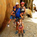 crete outdoor activities kids love greece canyoning family adventure