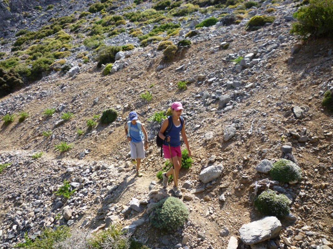 Crete family hiking adventure outdoor activities Psiloritis mountain kids love greece