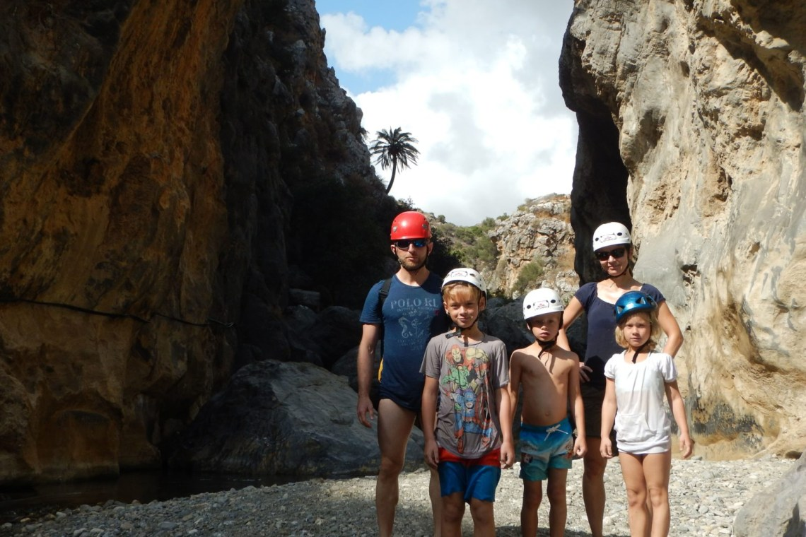 kids love greece activities river trekking outdoor family adventure Rethymno Crete
