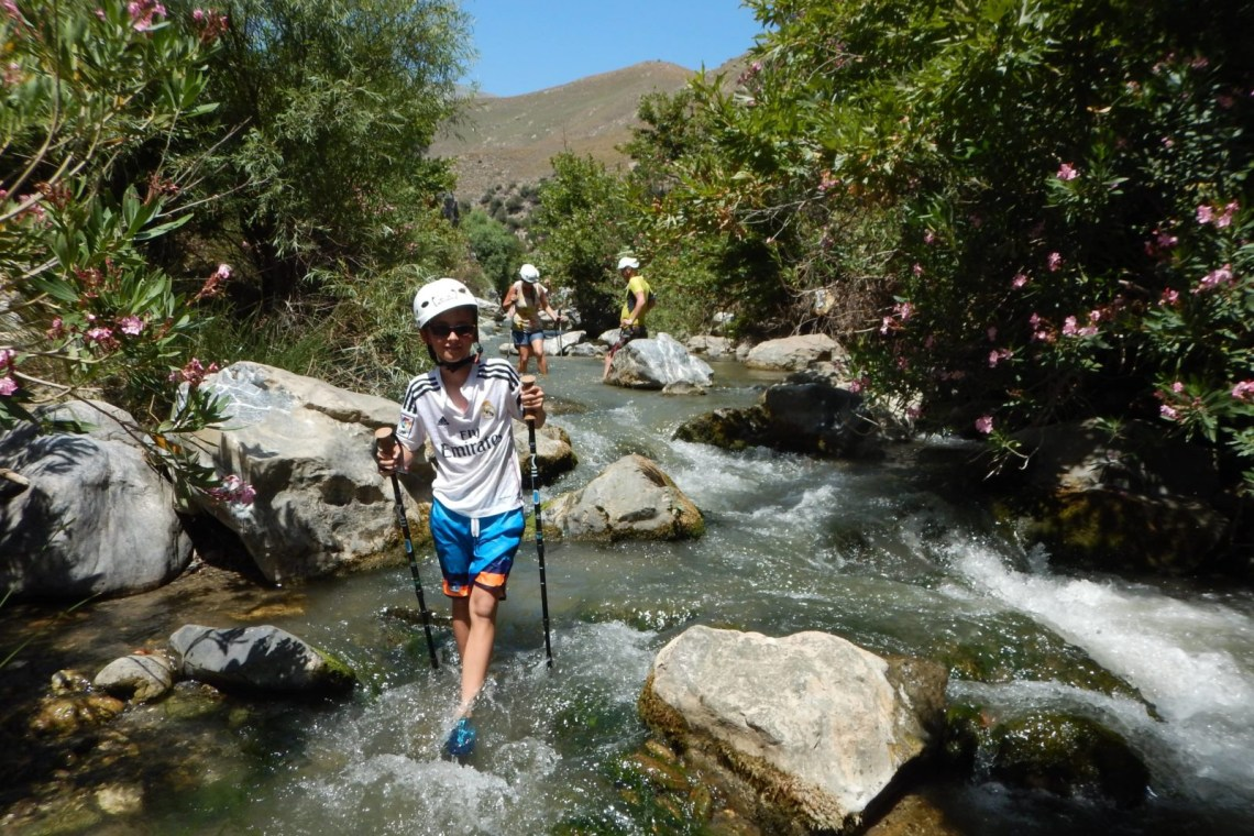 activities river trekking outdoor family adventure Crete kids love greece Rethymno