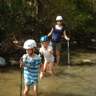 River Trekking Outdoor Family Adventure in Crete