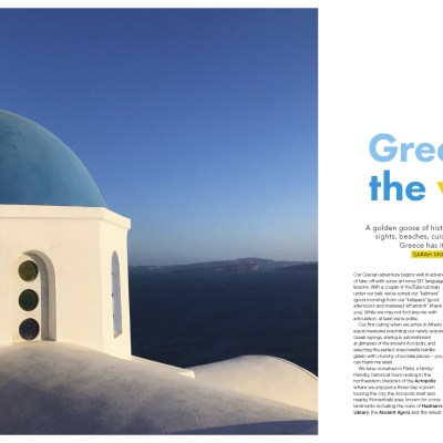 Kids Love Greece featured in Australia's number one family travel magazine