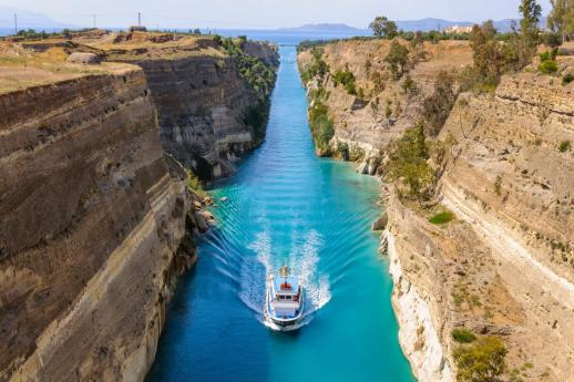 corinth canal boat Greece