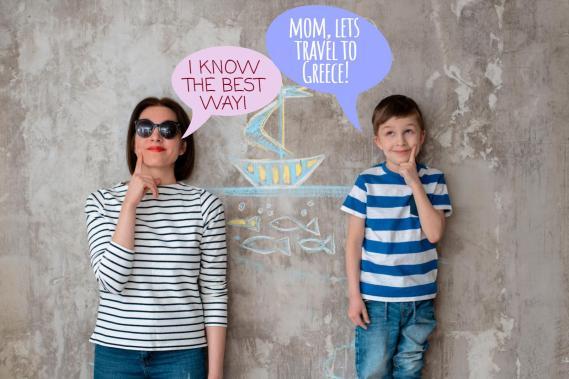 Mom son lets go to Greece KidsLoveGreece.com
