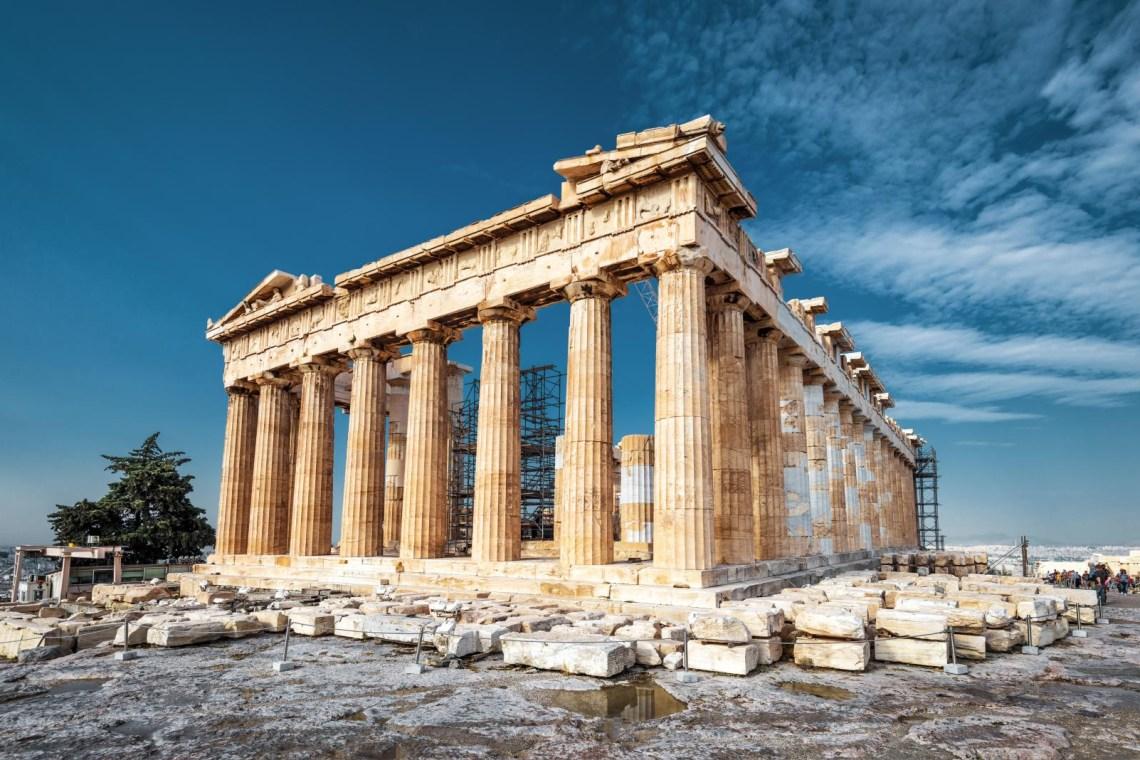 Parthenon view Acropolis Athens