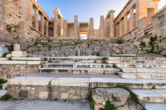 Propilea entrance of Acropolis Athens