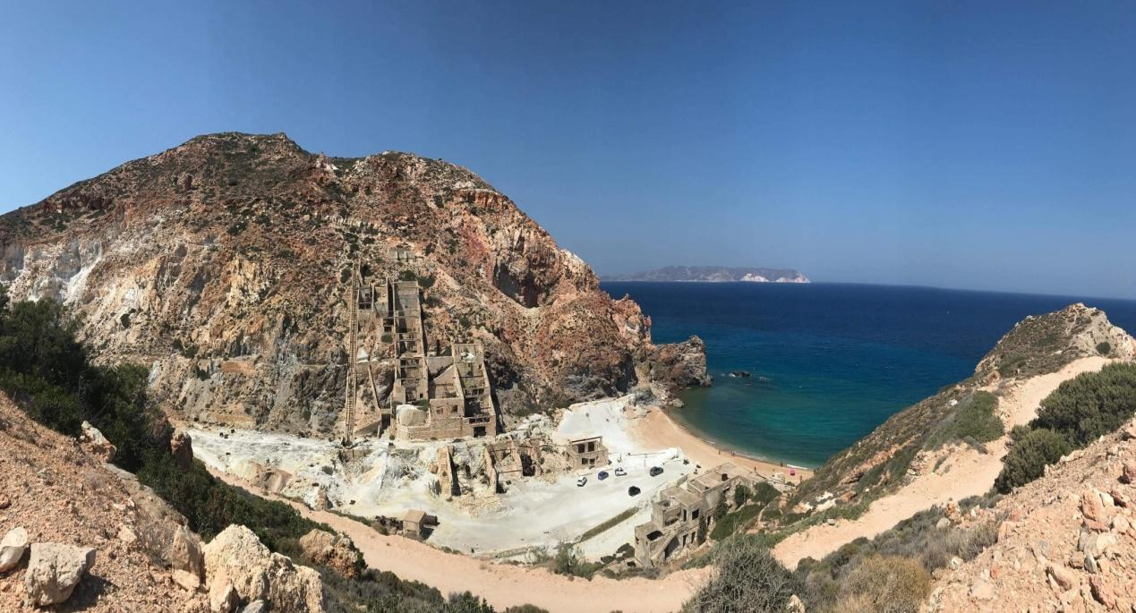 One of the beaches in Milos