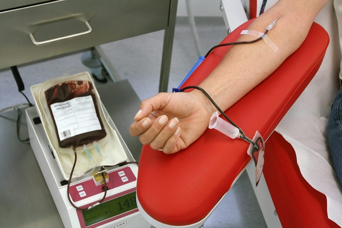 Giving Blood for wildfire relief in Greece