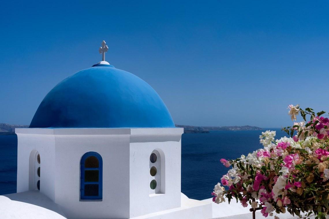 Santorini church seaview KidsLoveGreece.com