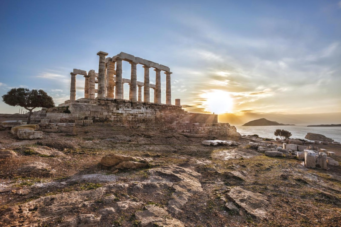 Cape Spunio Temple of Poseidon Percy Jackson Small group tour
