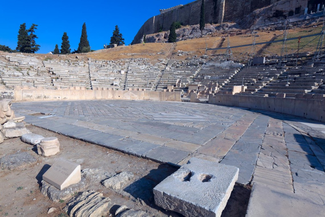Dionysos theater under Acropolis hill