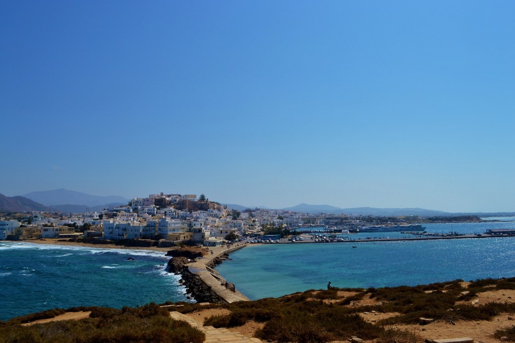 Naxos town on the Greek island of Naxos