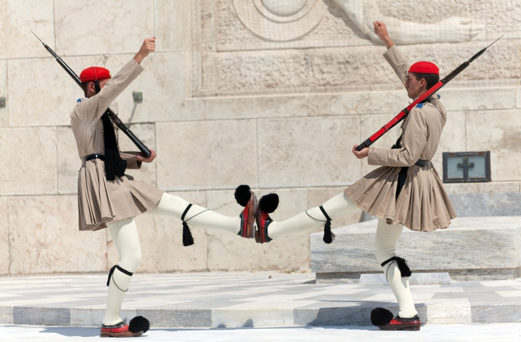 Evzones soldiers at Syntagma square