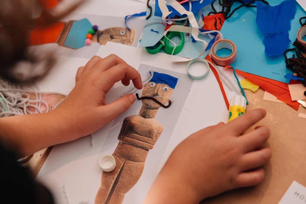 Kids activity at museum of Cycladic Art