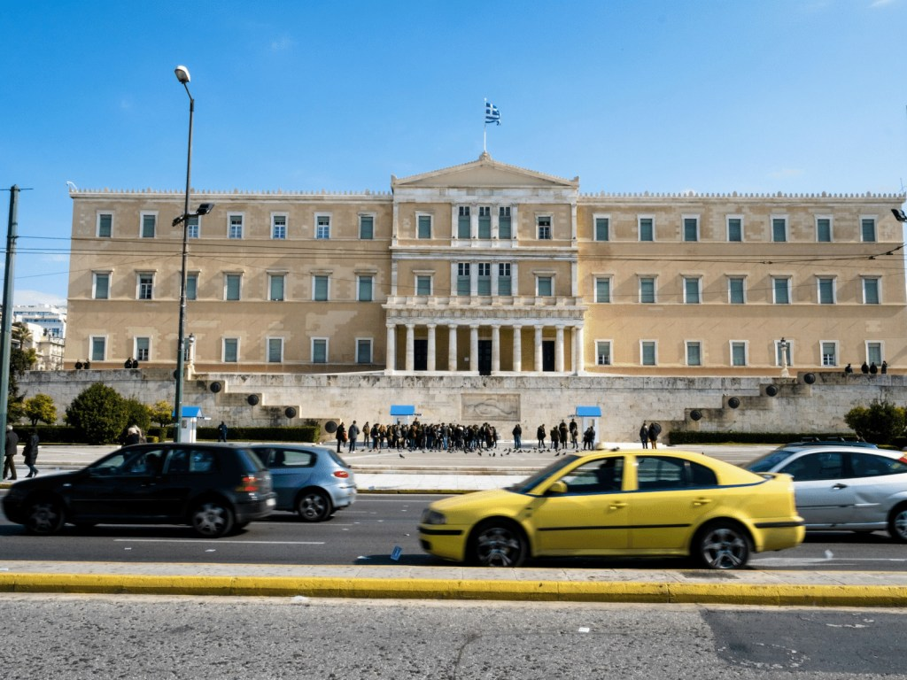 Syntagma traffic Athens Kids Love Greece