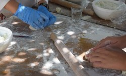 Traditional cooking class in the Cretan countryside