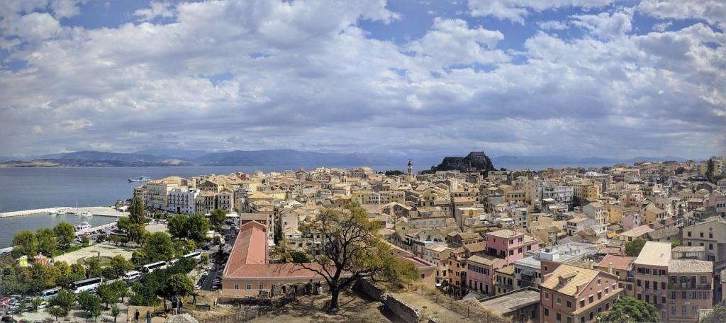 Corfu old town panorama PXB