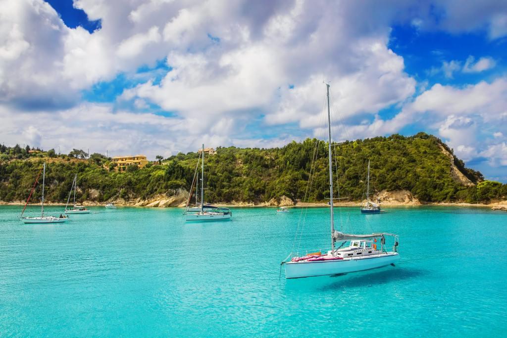 Lakka Bay Paxos Greece sailing-min