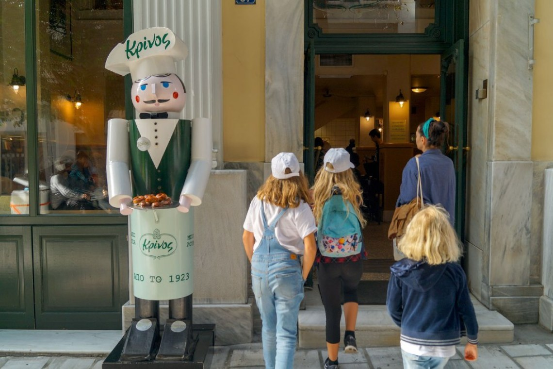Kids Love Greece Mythology Food Tour for families loukoumades