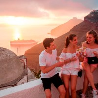 Santorini Sunset Walk & Taste