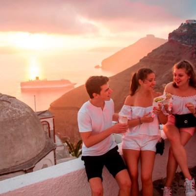 Santorini Sunset Walk & Taste