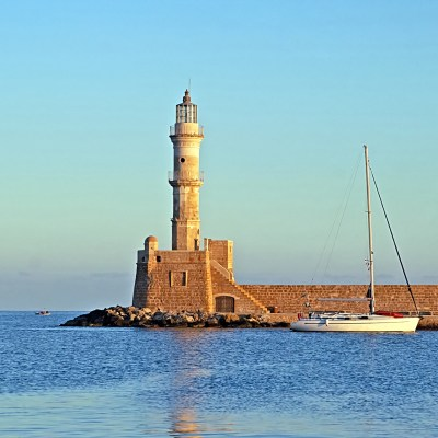 Family Sailing from Chania's Venetian harbour