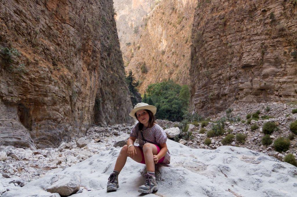 Samaria Gorge Crete hiking with kids