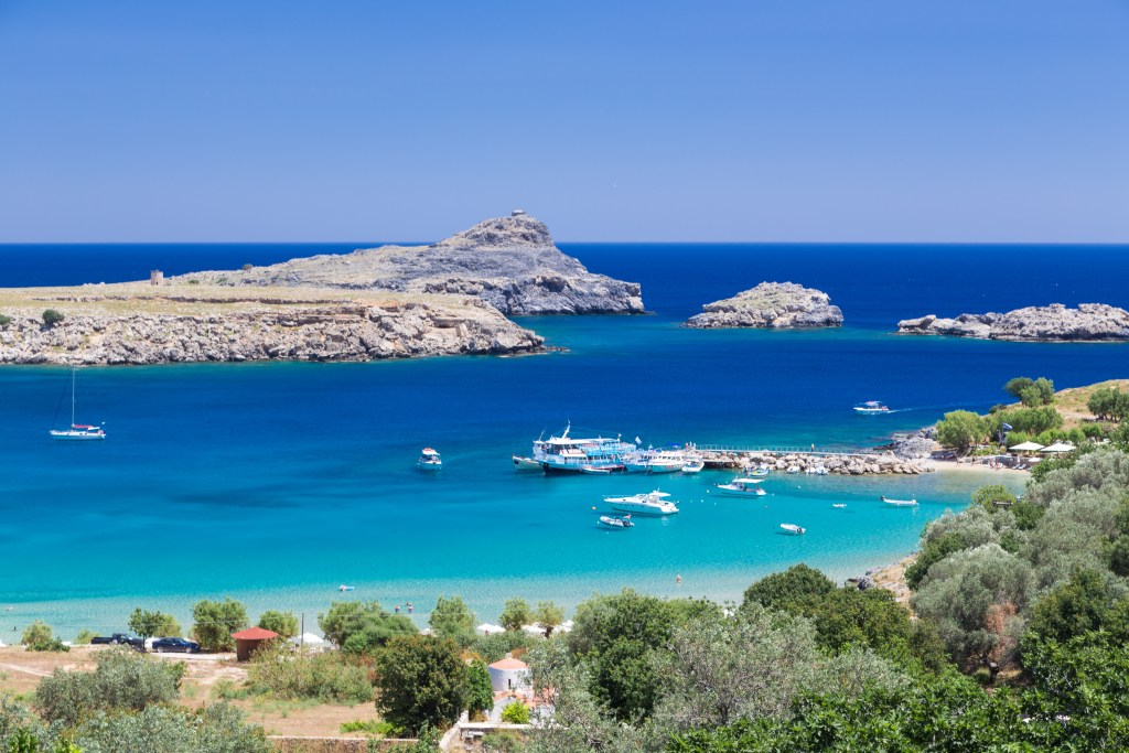 Lindos town in Rhodes in Greece SH