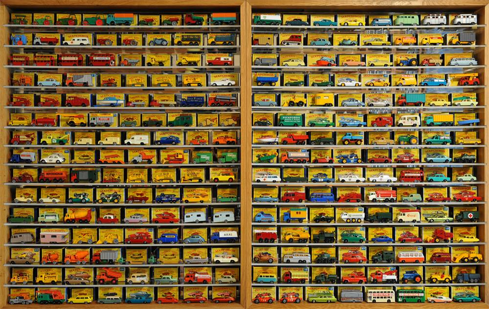 Collection of retro car miniatures at Rhodes Toy Museum