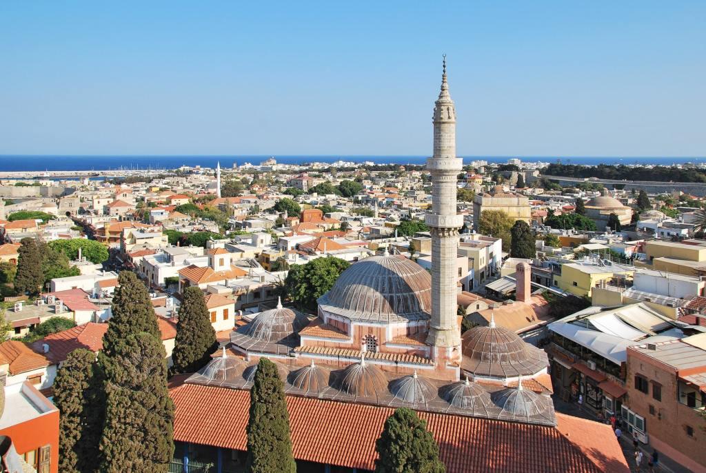 Rhodes Landmark Suleiman Mosque Rhodes DP