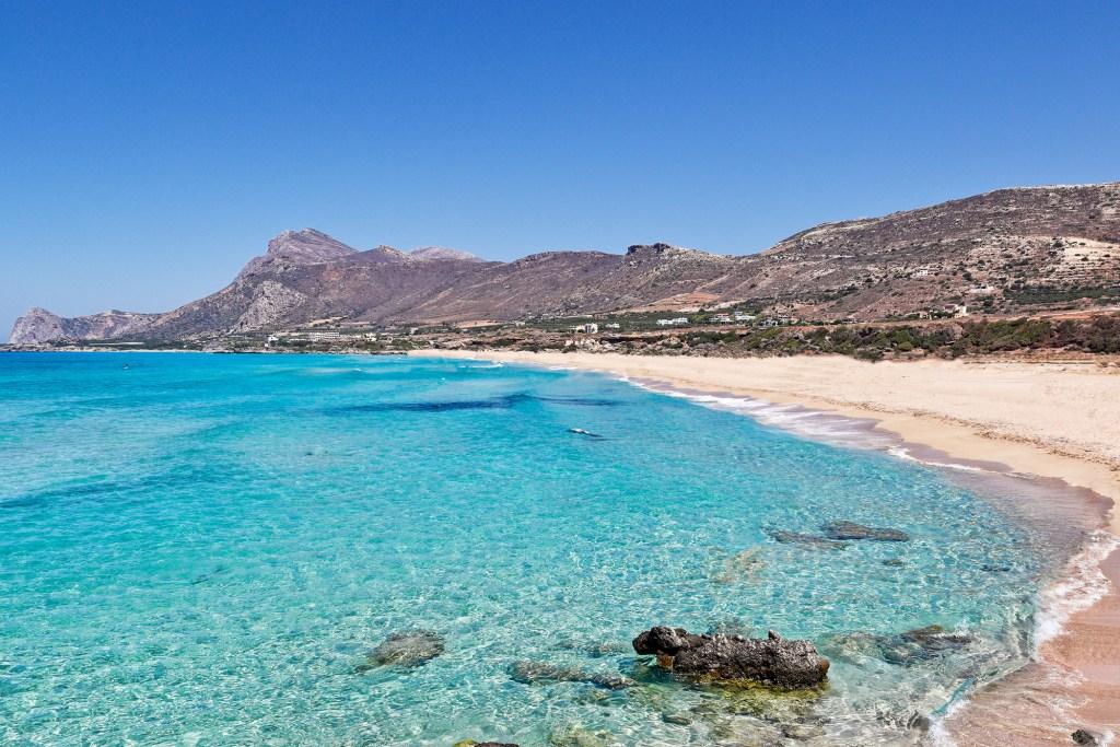 The beach Falassarna in Crete, Greece for families DP