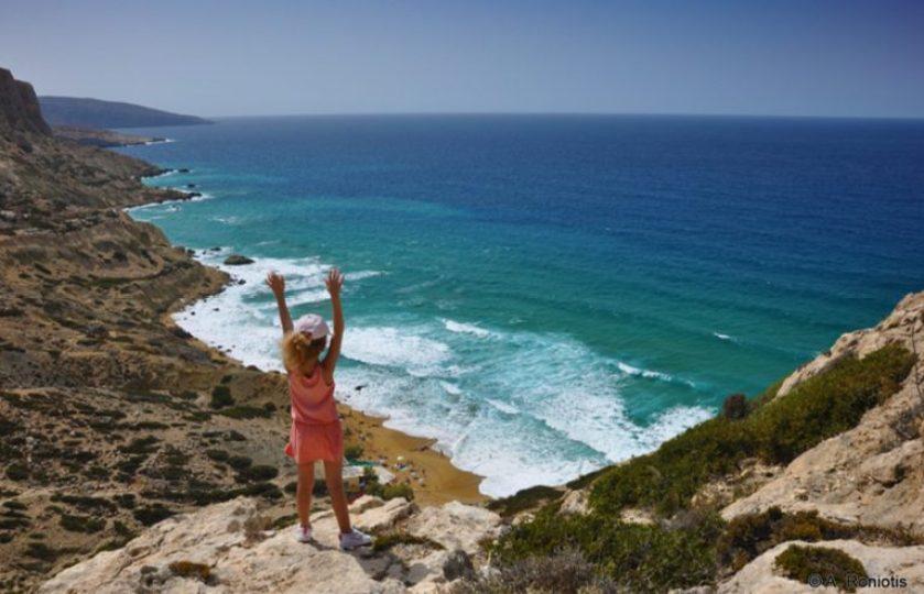 Red Sand Beach near Matala Roniotis Cretan Beaches