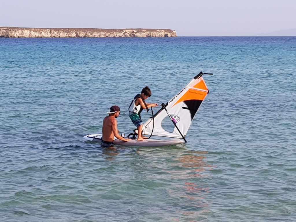 Watersports windsurfing Paros Chryssi Akti