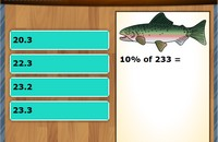 Percentage of numbers