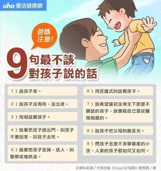 9句最不該對孩子說的話