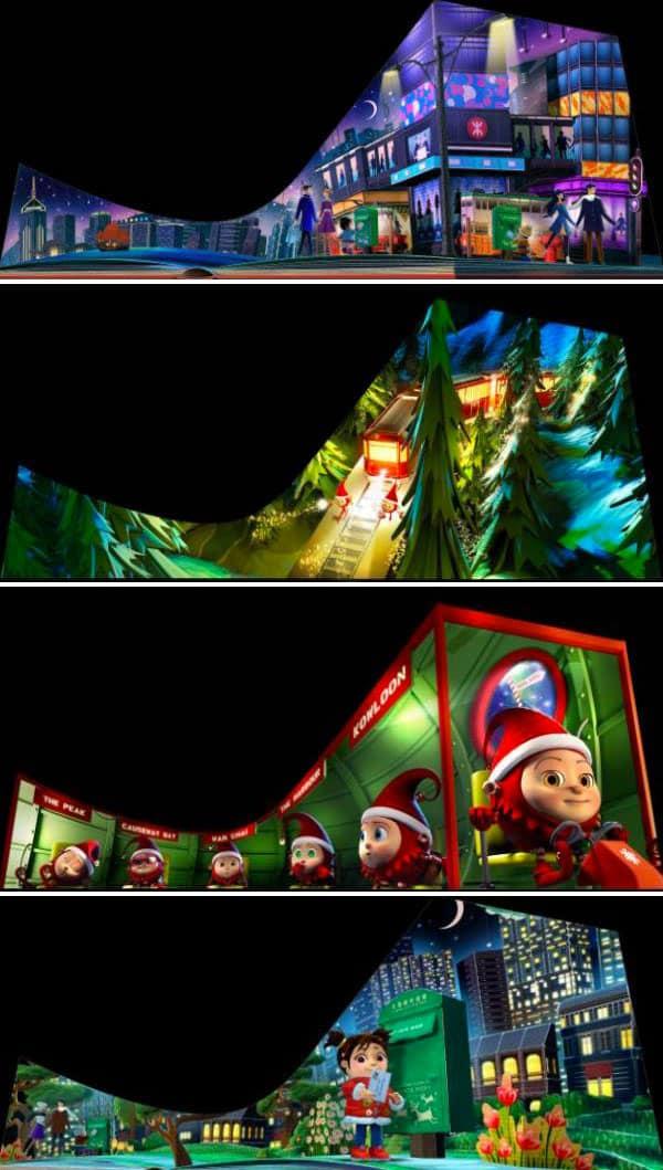 聖誕版3D光雕匯演