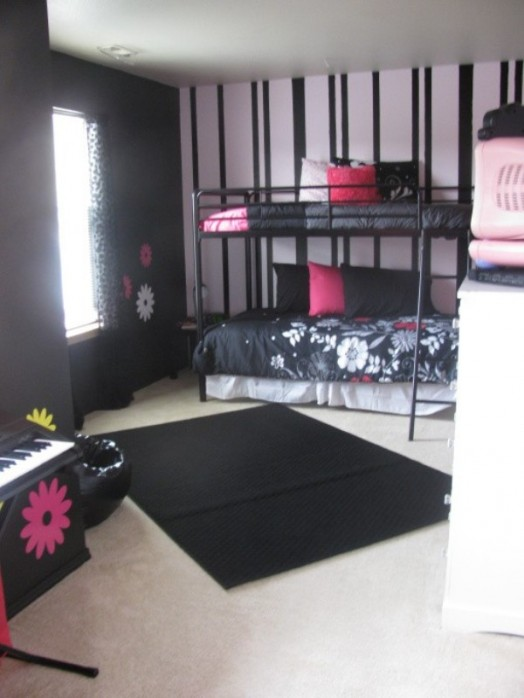 12 Cool Ideas For Black And Pink Teen Girl S Bedroom
