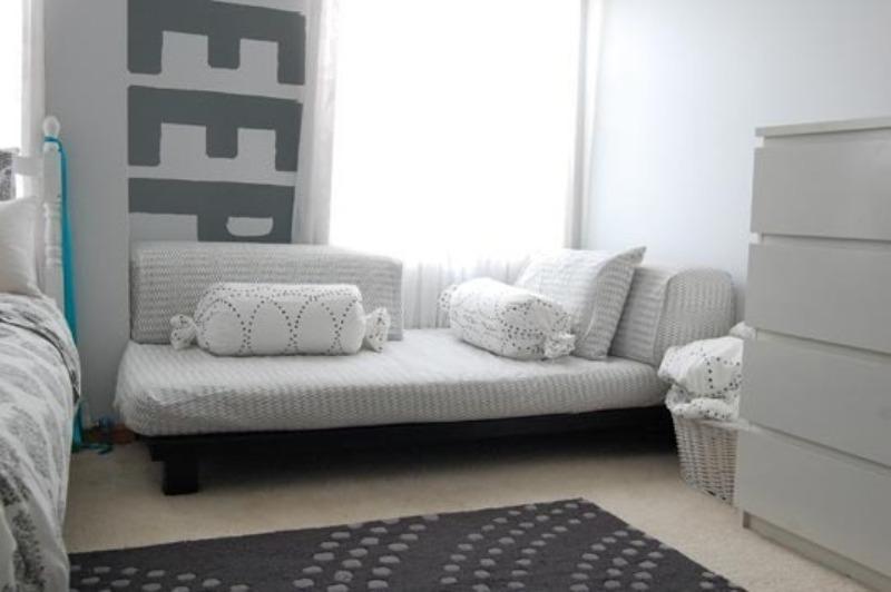 A Monochromatic Gray Shared Kids Room Design Kidsomania