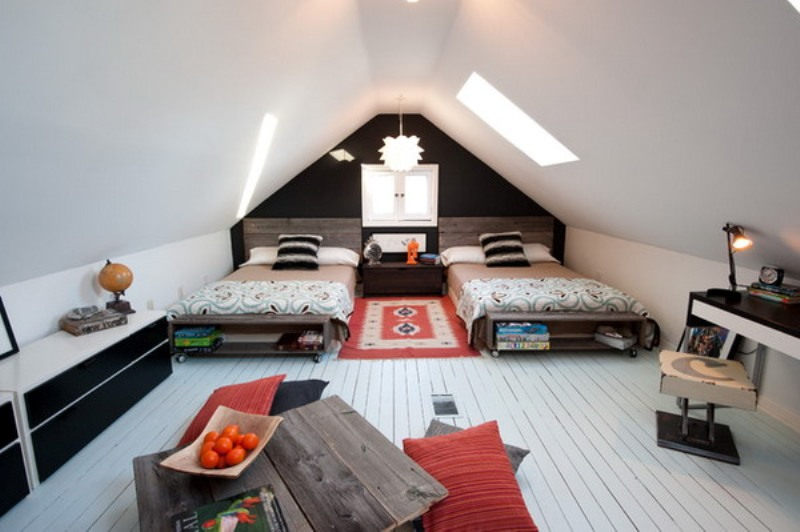 15 Cool Design Ideas For An Attic Kids Room Kidsomania