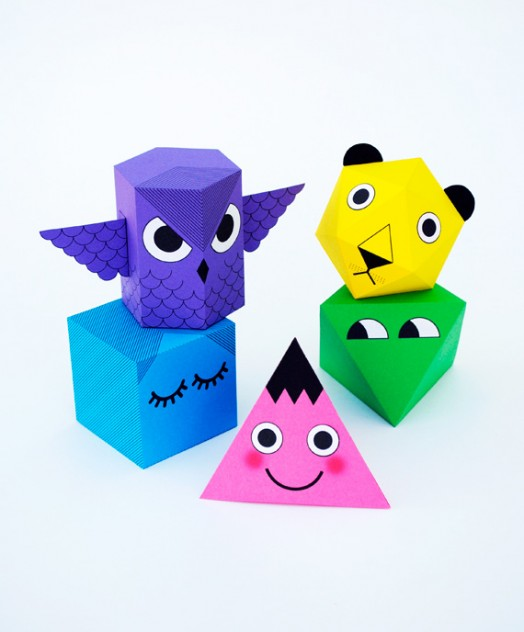 Colorful And Funny Diy Polyhedra Characters