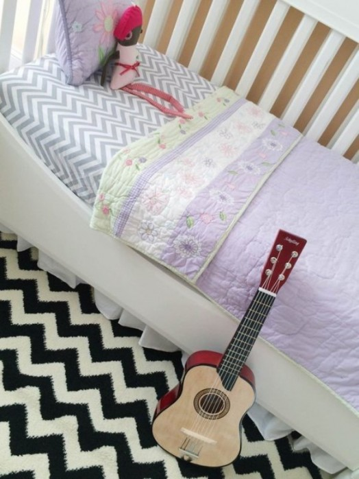 Eclectic And Fun Girls Nursery Design With A Chalkboard