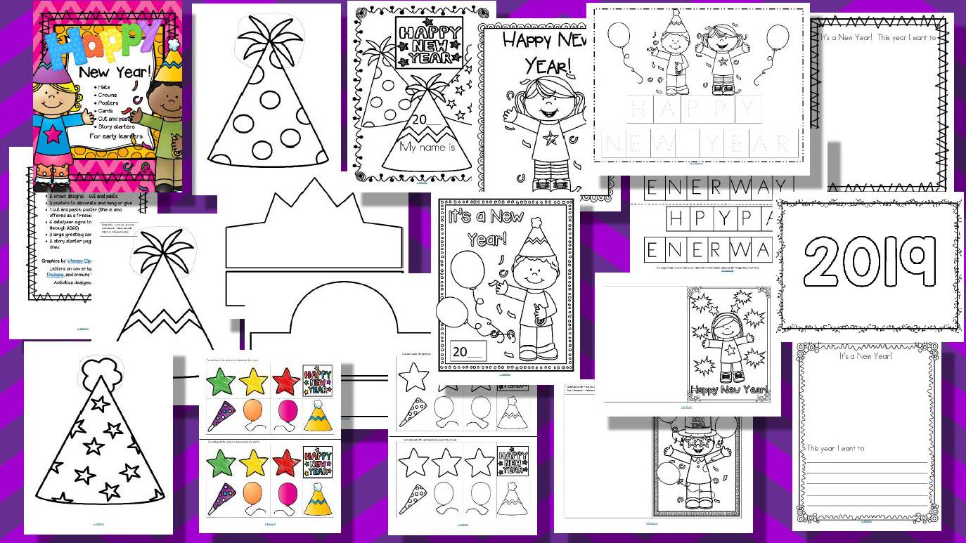 New Year Activities No Prep For Preschool Pre K And