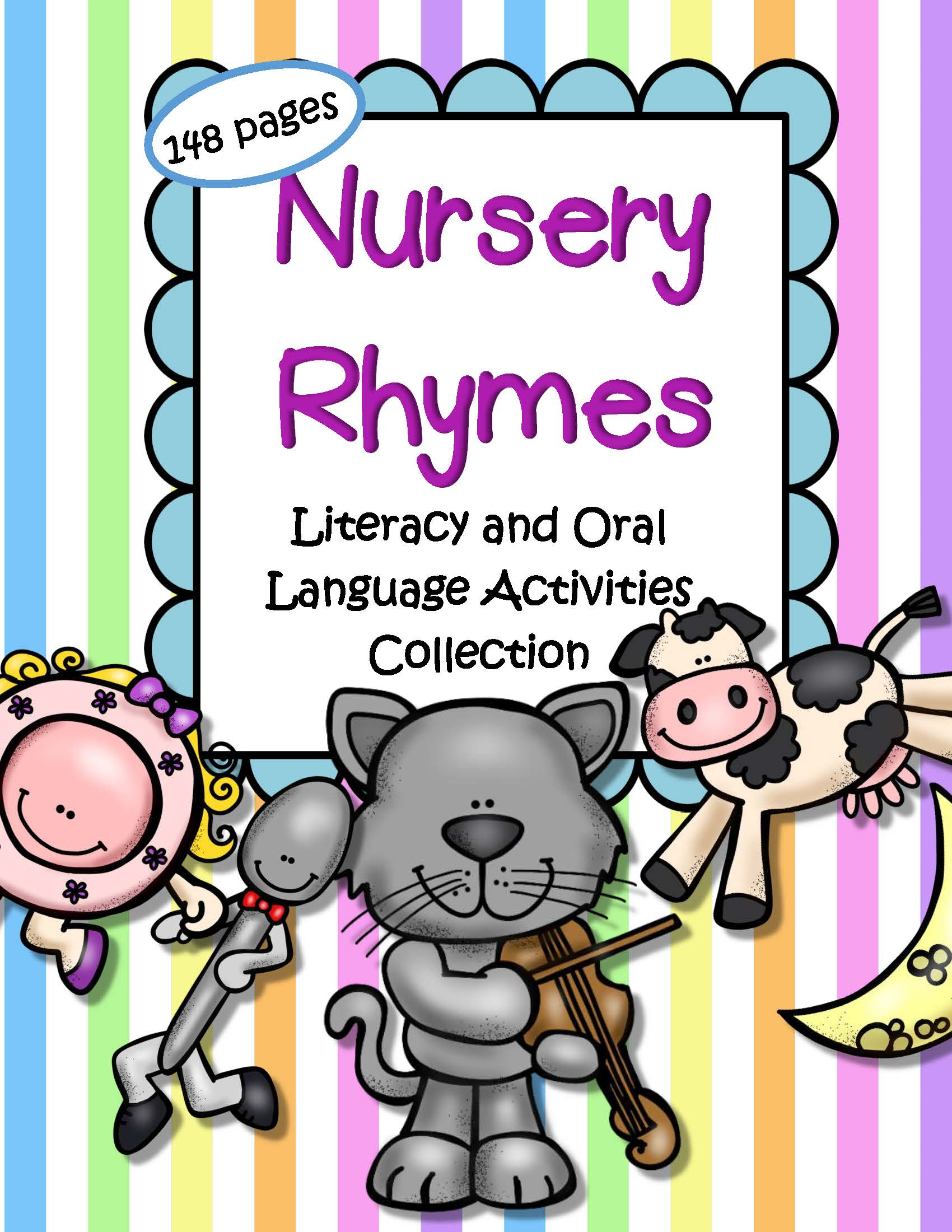 Nursery Rhymes Literacy And Oral Language Activities Pack