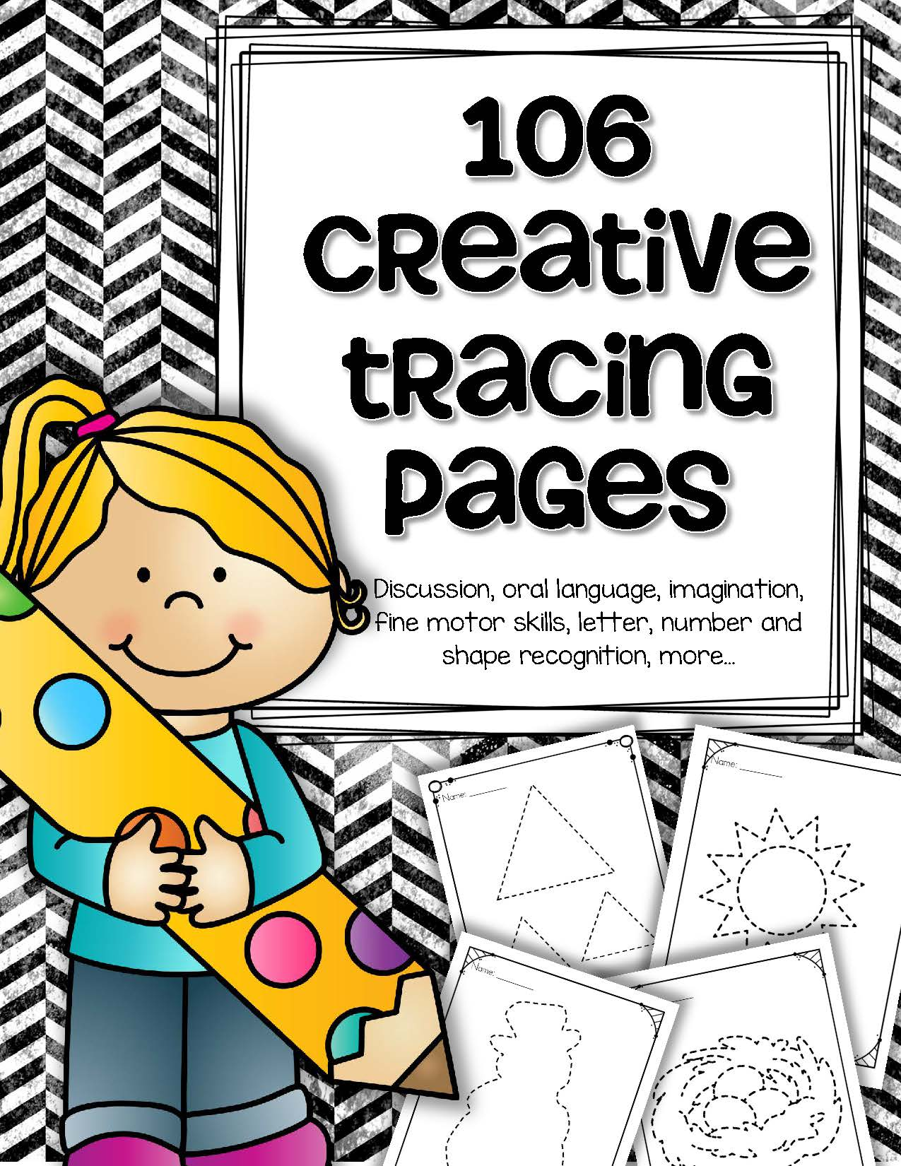 106 Creative Tracing Pages For Preschool And Pre K Letters
