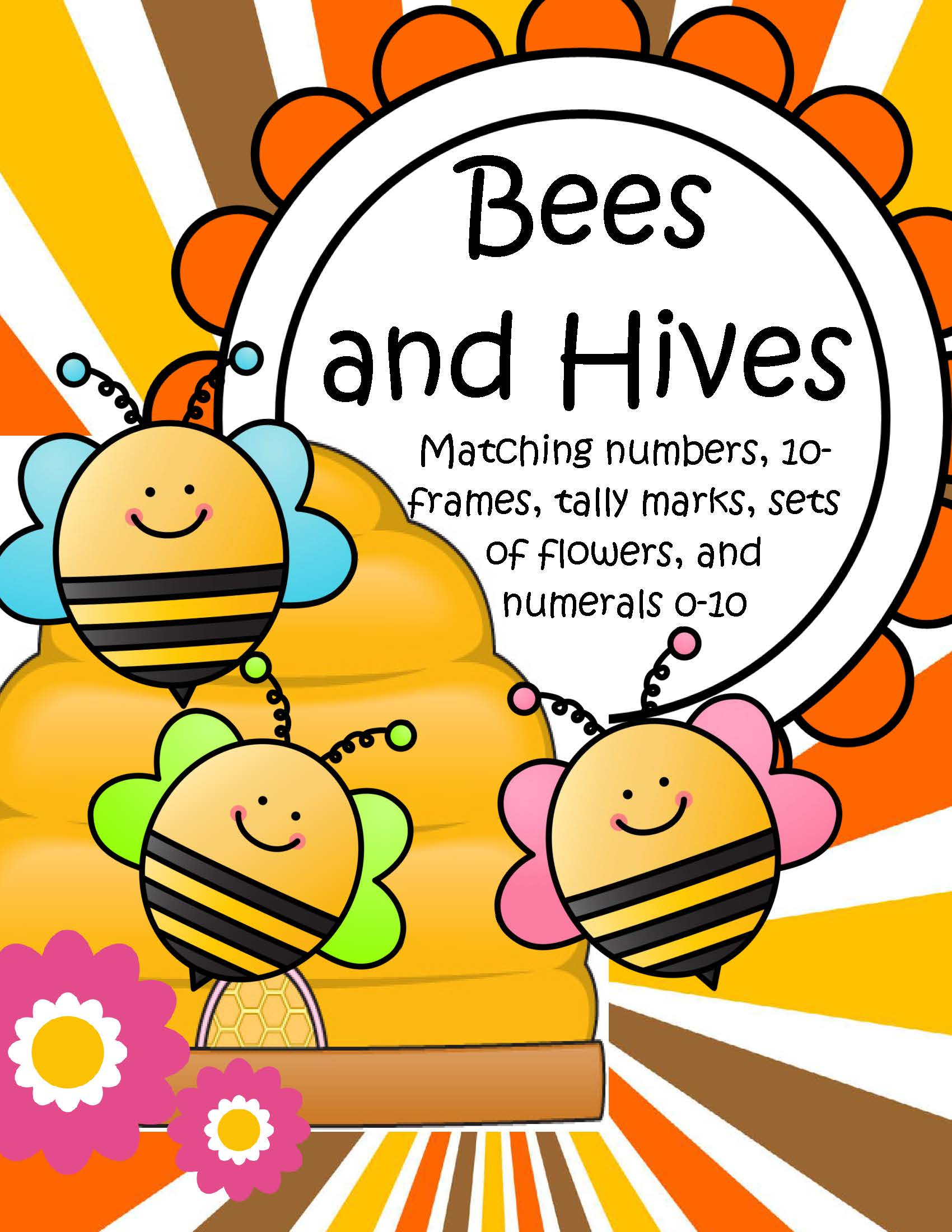 Bees And Hives Matching 10 Frames Tally Marks Sets And