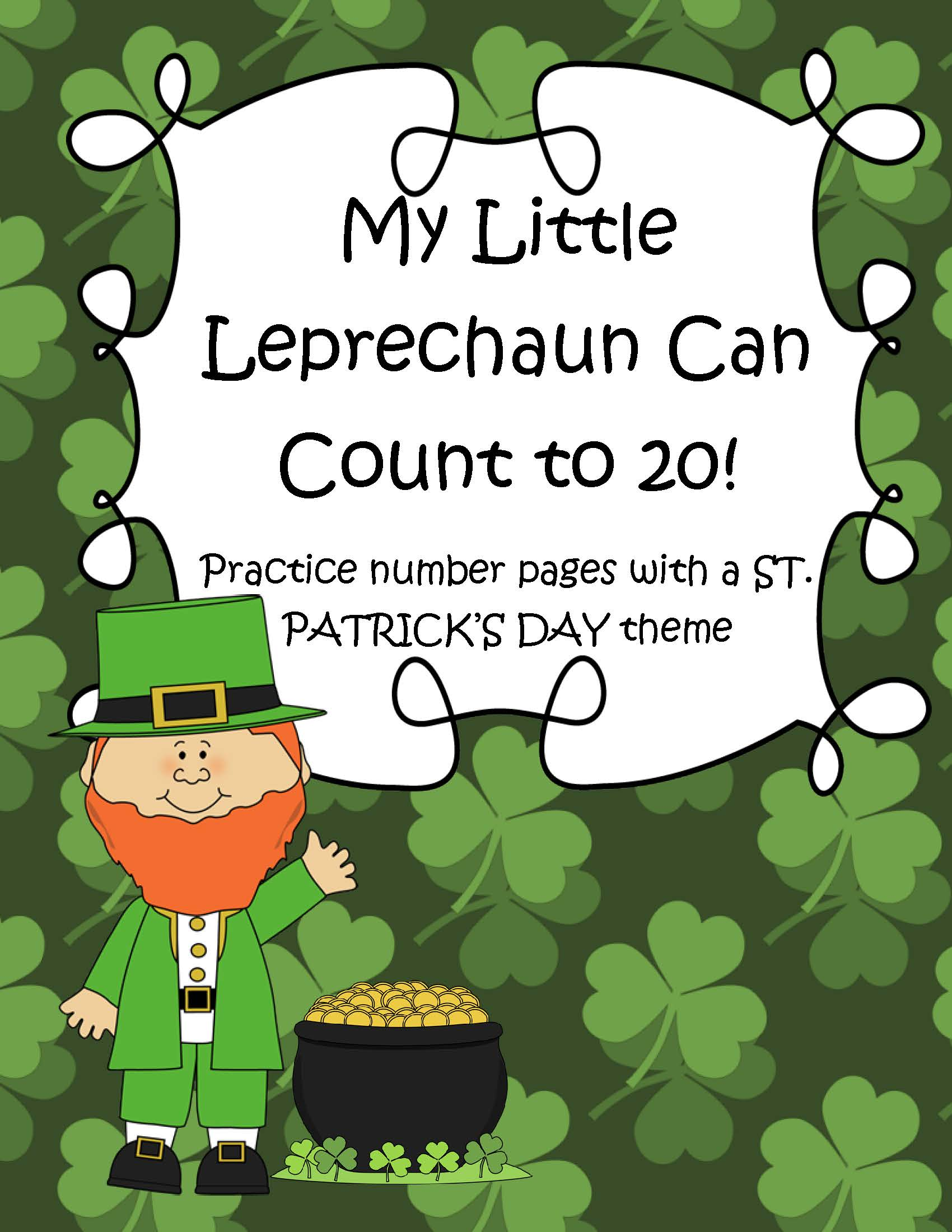 St Patrick S Day Theme Number Practice Pages 1 20