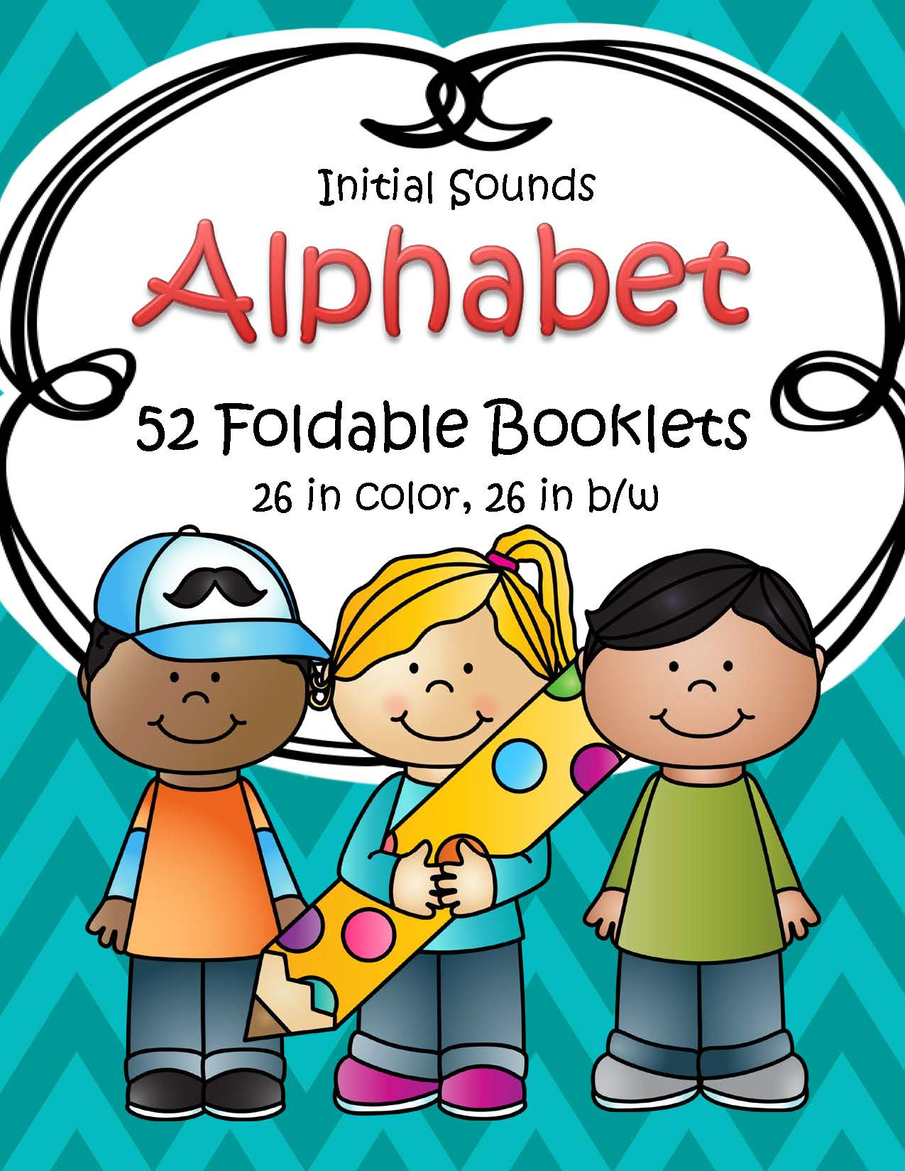 Alphabet Foldable Booklets Initial Beginning Sounds Color