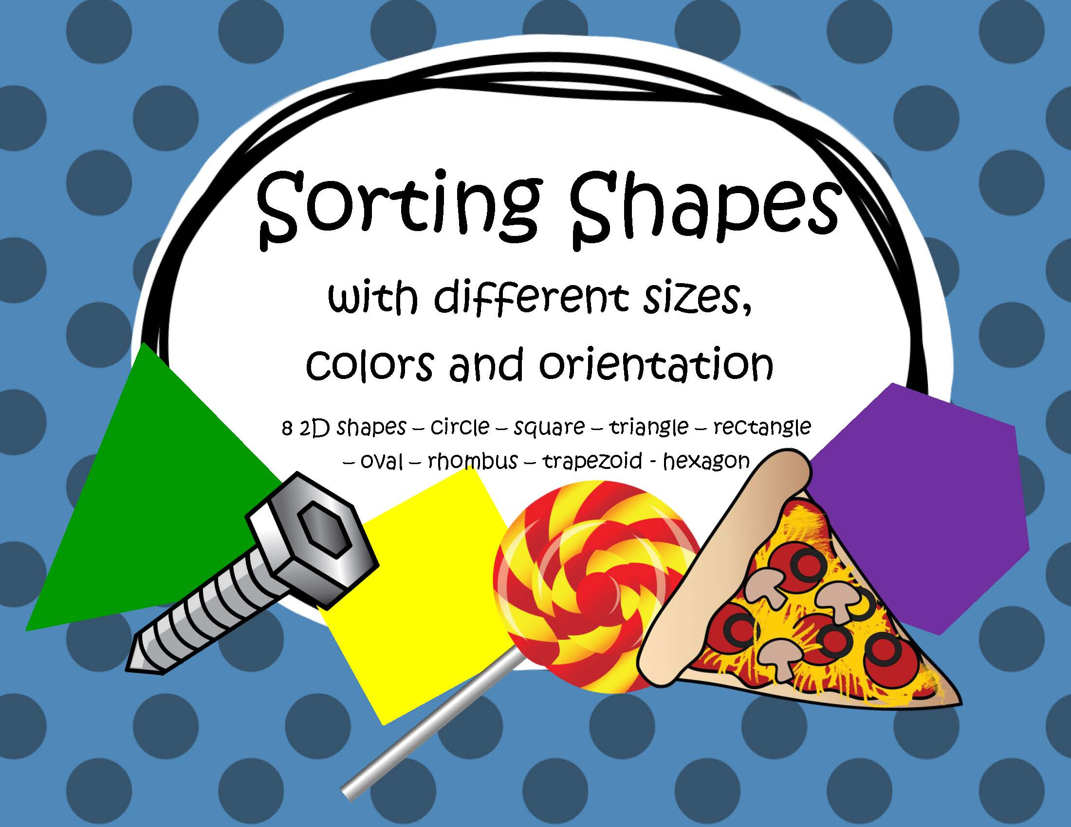 Shape Sorting With Different Sizes Colors And Orientation