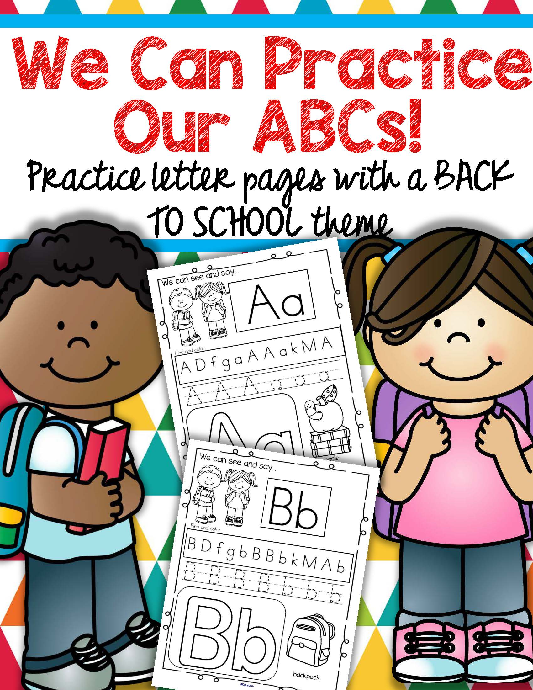 Back To School Alphabet Practice Printables
