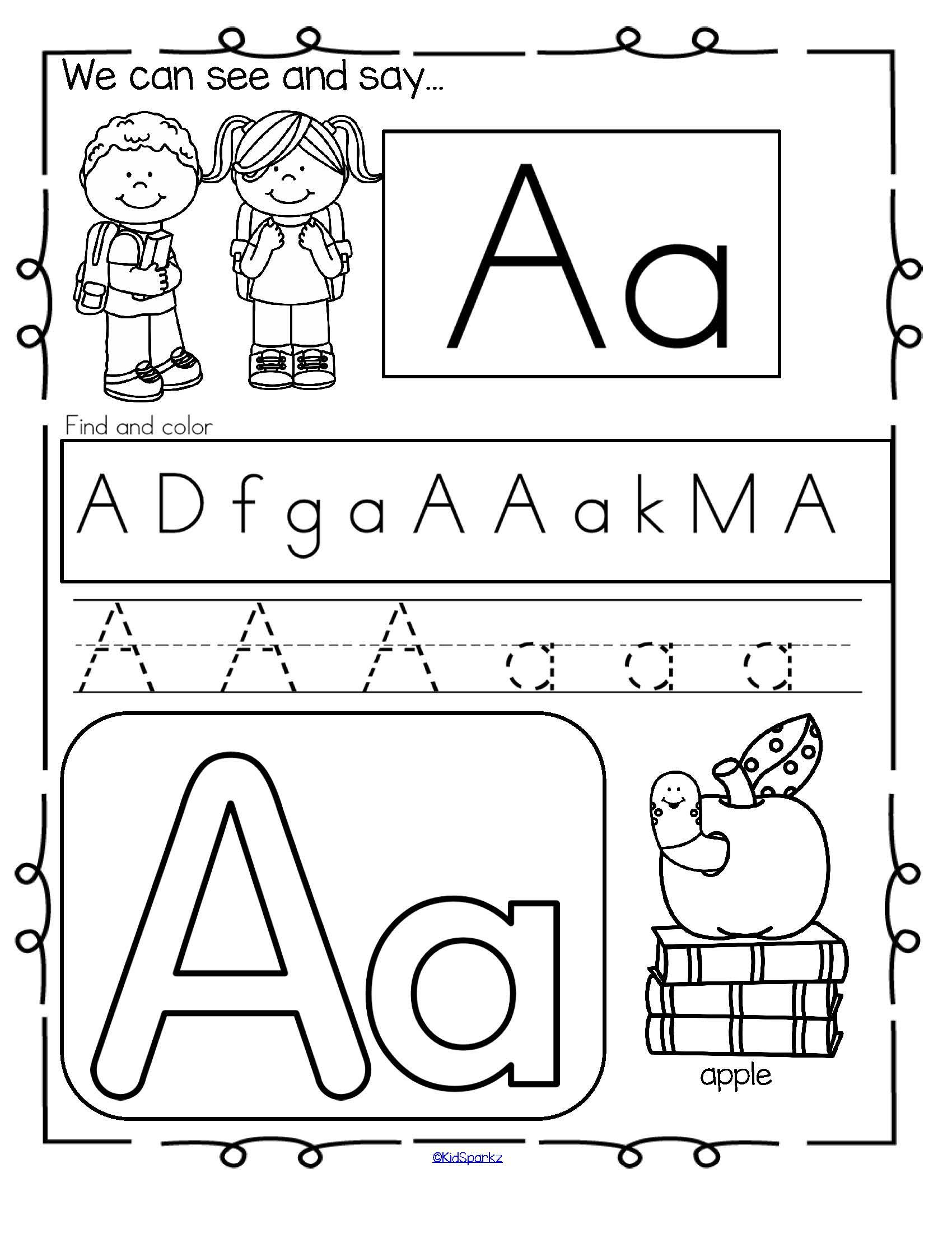 Back To School Alphabet Practice Printables